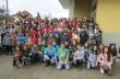 """Децата от ОУ """"Ив. Вазов"""" изплетоха 328 метра ластичен гирлянд"""
