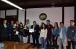 """15 ученици от ПГЕЕ """"М. В. Ломоносов"""" дадоха обещание като младши посланици към Европейския парламент"""